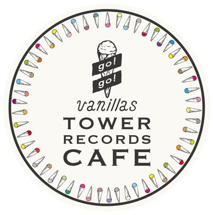 "go!go!vanillas×TOWER RECORDS CAFE表参道店""バニカフェ"" ロゴ (okmusic UP's)"