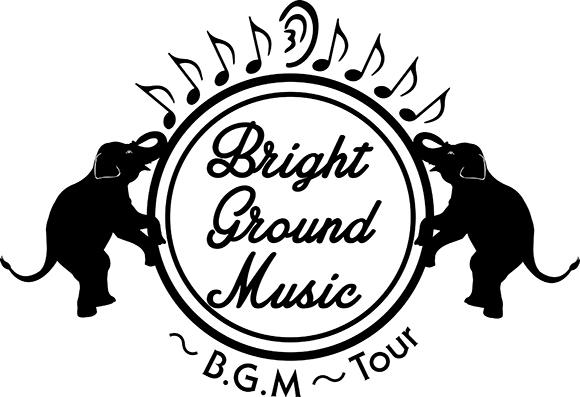 「Bright Ground Music ~B.G.M~ Tour」ロゴ (okmusic UP's)