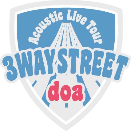 "「doa Acoustic Live Tour""3WAY STREET""」ロゴ (okmusic UP's)"