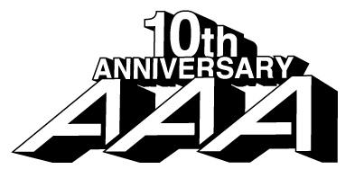 「AAA 10th Anniversary」ロゴ (okmusic UP's)
