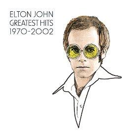 エルトン・ジョン『グレイテスト・ヒッツ 1970-2002』のジャケット写真 (okmusic UP's)