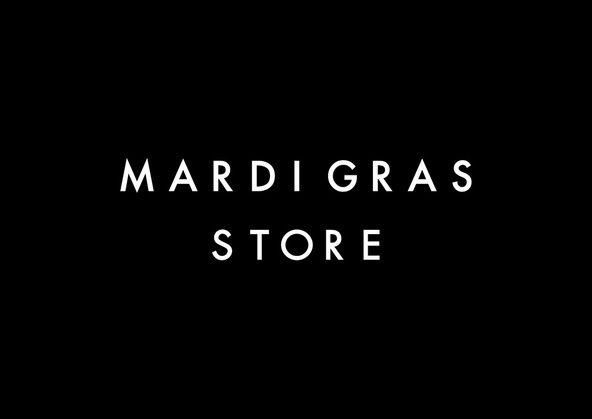 「MARDI GRAS STORE」ロゴ (okmusic UP's)