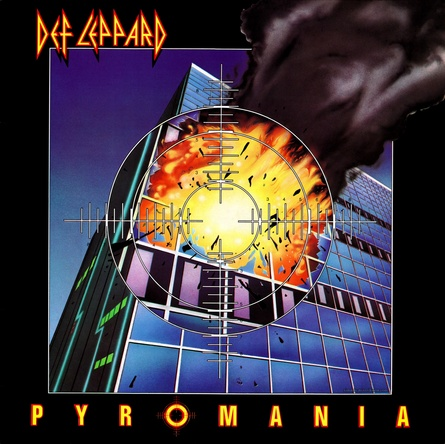 DEF LEPPARD『PYROMANIA』のジャケット写真 (okmusic UP's)