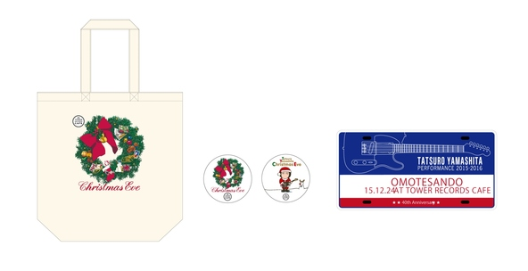 TOWER RECORDS CAFE 表参道オリジナル「クリスマス・イブ」トートバッグ (okmusic UP's)