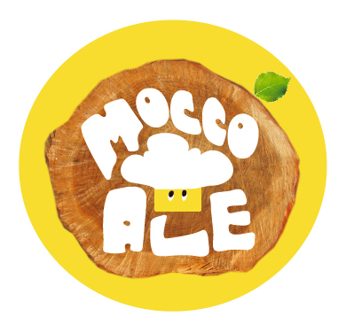 オリジナルビール「MOCCO ALE」ロゴ (okmusic UP's)
