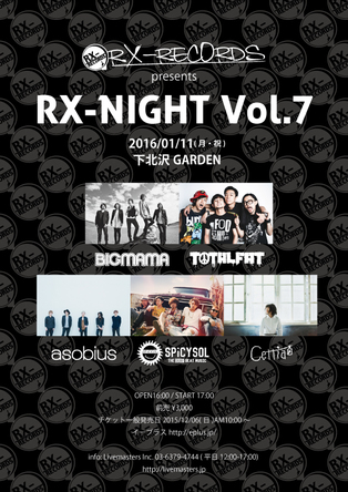 『RX-RECORDS Presents RX-NIGHT Vol.7』 (okmusic UP\'s)