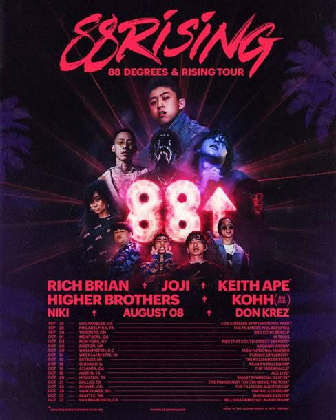 『88 DEGREES & RISING TOUR』