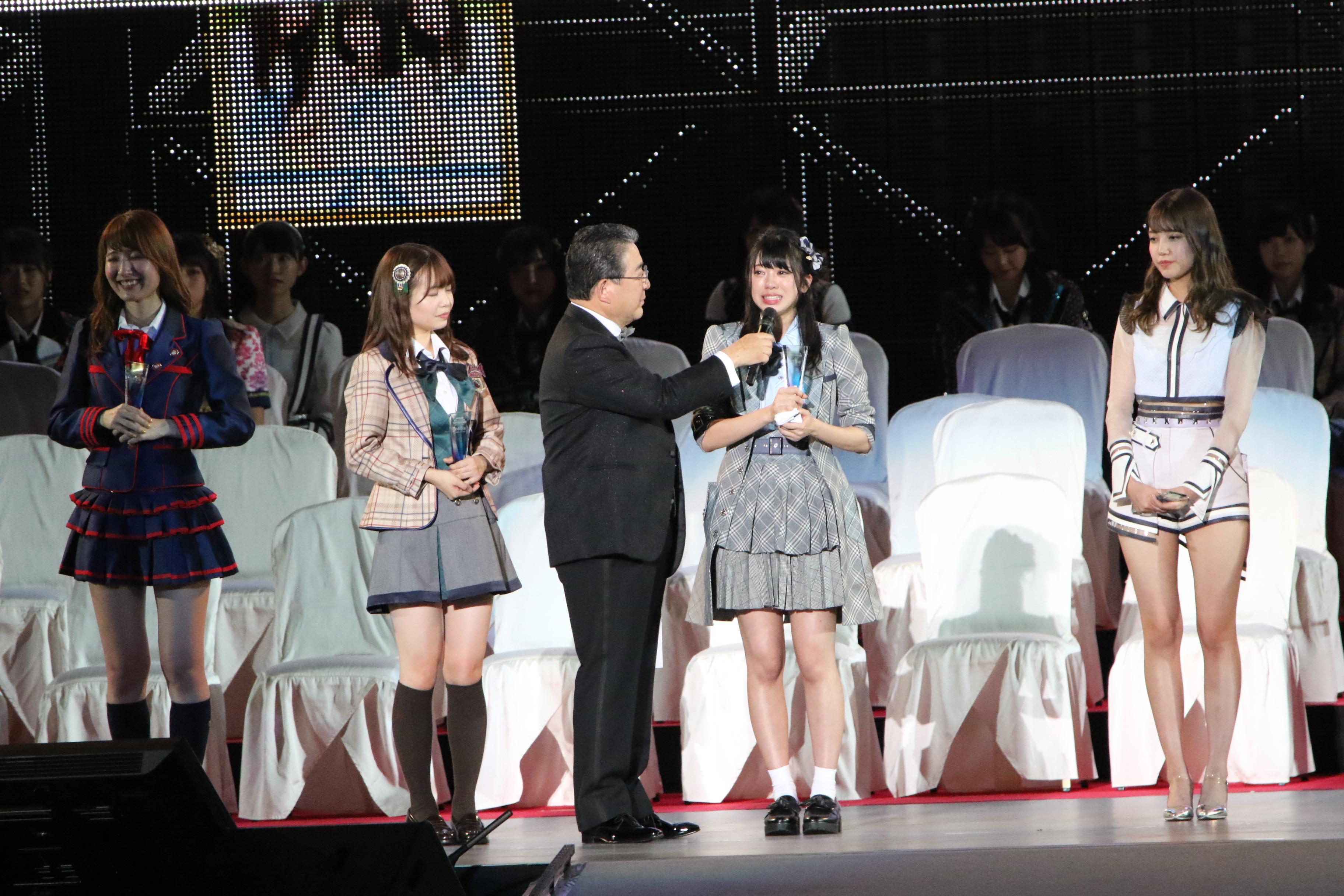選抜総選挙のステージでの大西桃香「皆さんのおかげで最高の親孝行ができたと思います!ありがとうございます」
