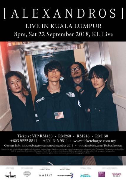 『[ALEXANDROS] Live in Kuala Lumpur 2018』
