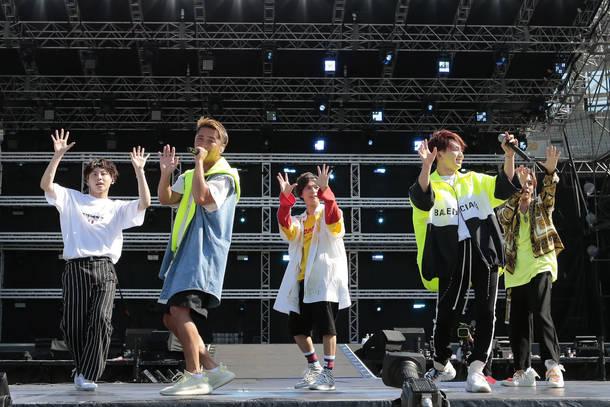 8月26日@『a-nation』東京公演(Da-iCE)