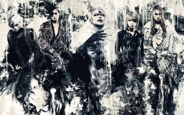L→R 薫(Gu)、Toshiya(Ba)、京(Vo)、Shinya(Dr)、Die(Gu)