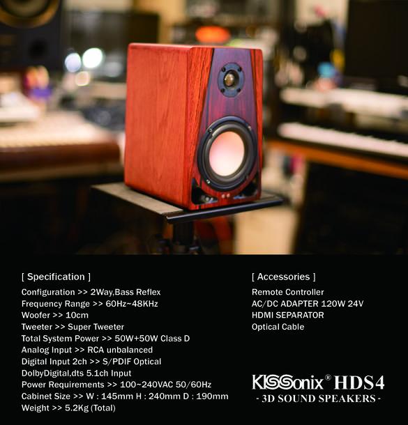 KISSonix HDS4 3D Sound Speakers