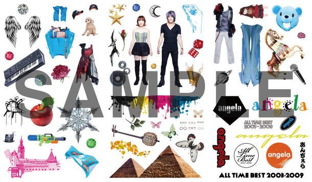 アルバム『angela All Time Best 2003-2009 』DIYジャケット用ステッカー