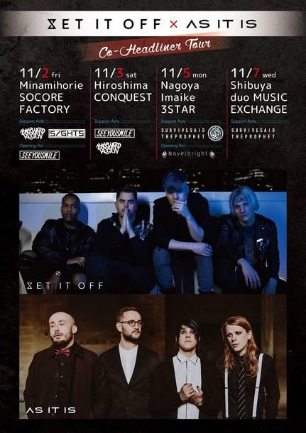 『SET IT OFF / AS IT IS Co-headliner Japan Tour 2018』
