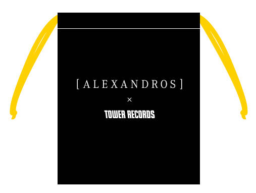 [ALEXANDROS]×TOWER RECORDS缶ミラー巾着付き