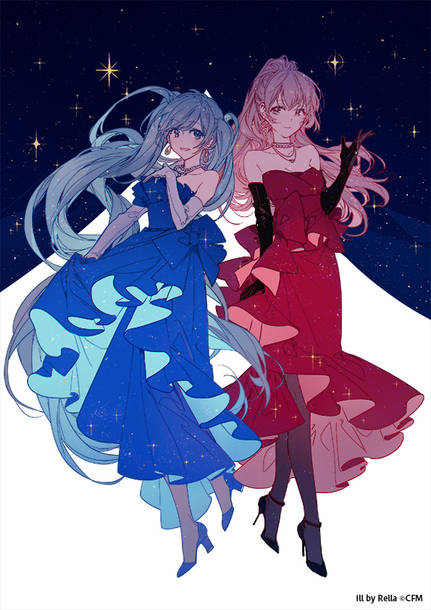 ジャズシンガー風 初音ミク&巡音ルカ illustration by Rella (C)Crypton Future Media, INC.