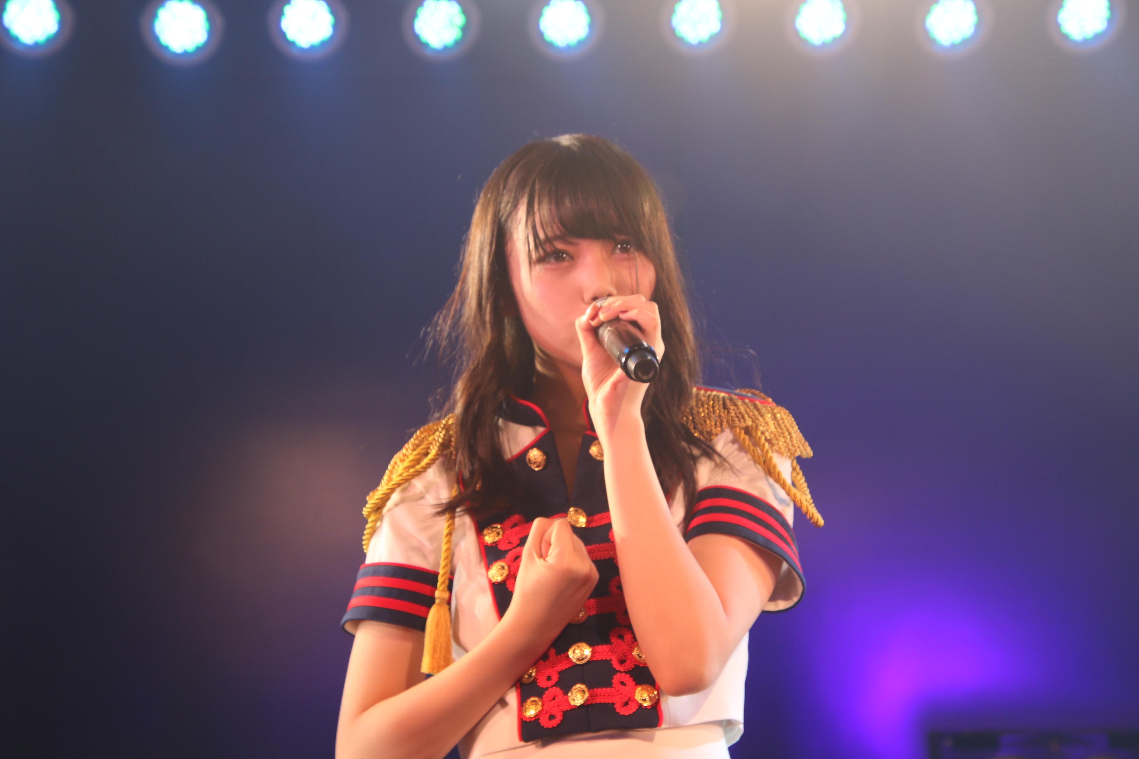 チームA「目撃者」公演ゲネプロでの長久玲奈(2018年6月)