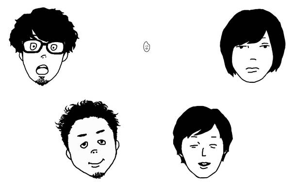 L→R ヨコタ シンノスケ(Key&Vo)、カワクボ タクロウ(Ba)、ヤマサキ セイヤ(Vo&Gu)、オカザワ カズマ(Gu)、ソゴウ タイスケ(Dr)