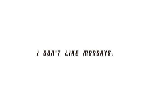 I Don't Like Mondays. ロゴ