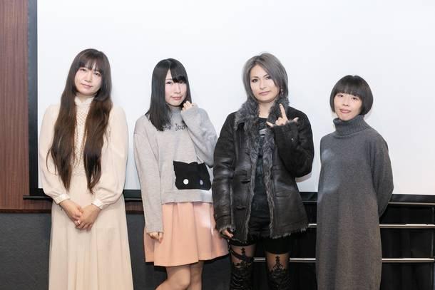 kimi(Amiliyah)、かなでももこ、IBUKI、Haruka(e:cho)