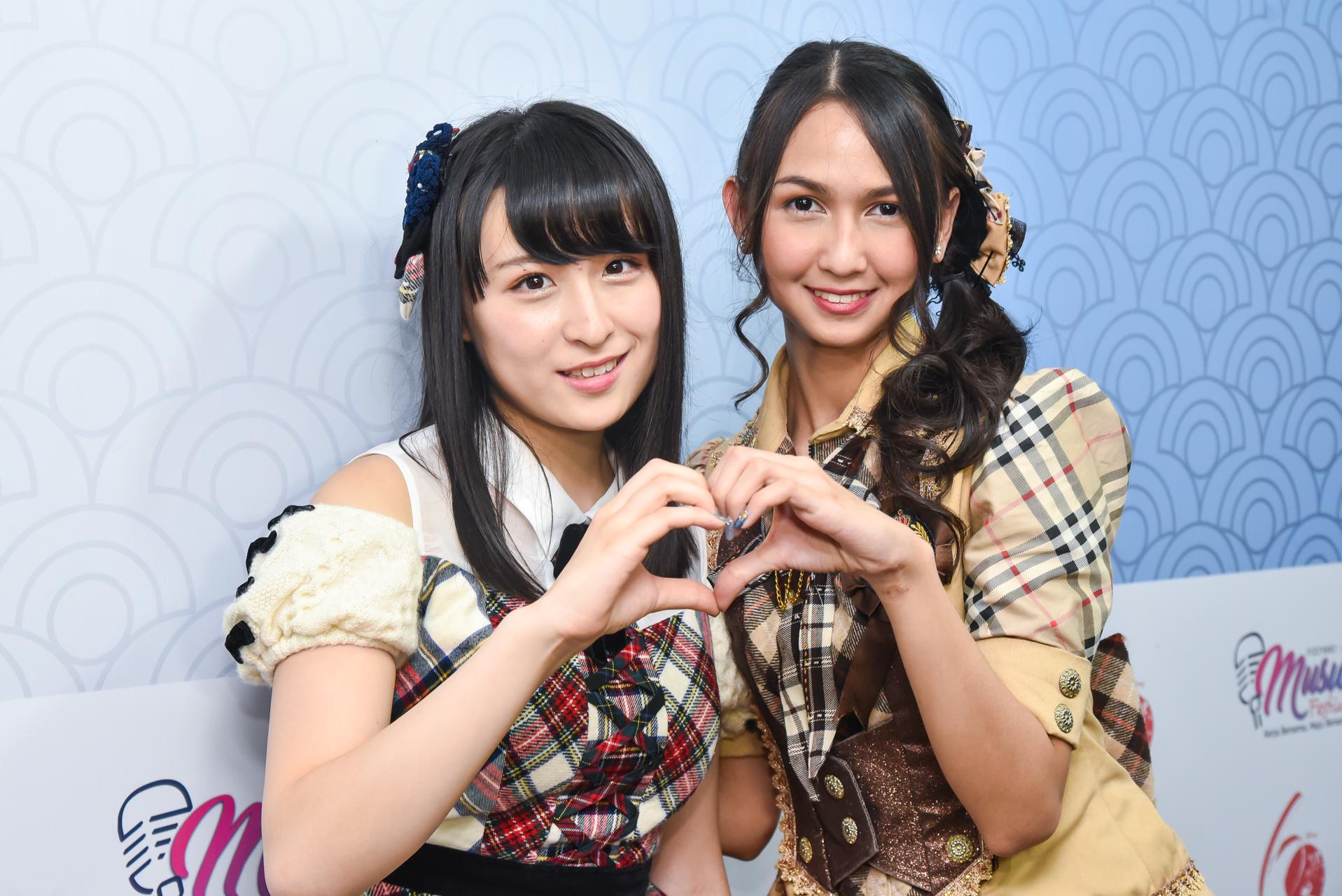 AKB48川本紗矢とJKT48ステフィ