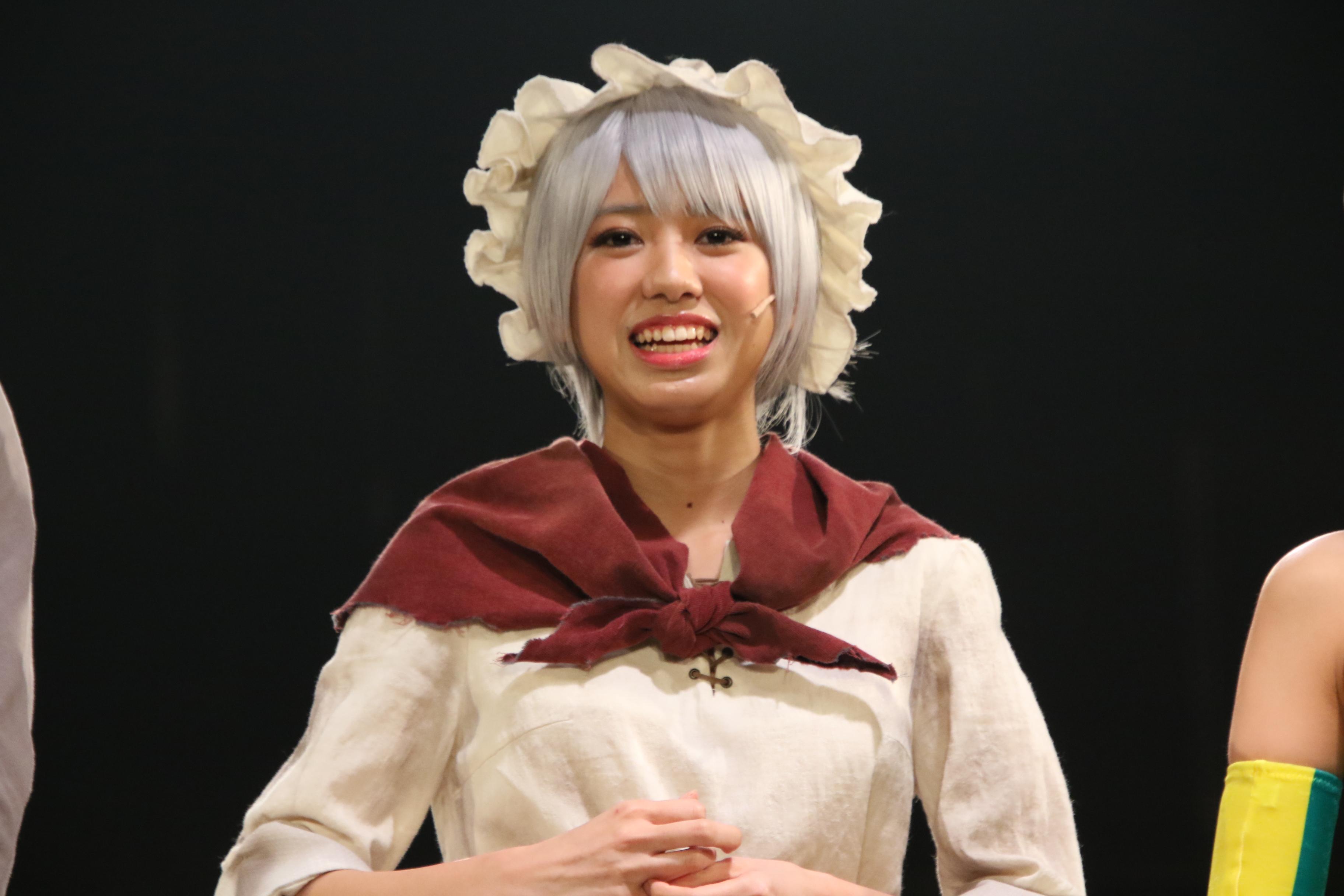 舞台劇「からくりサーカス」(囲み取材)での大西桃香
