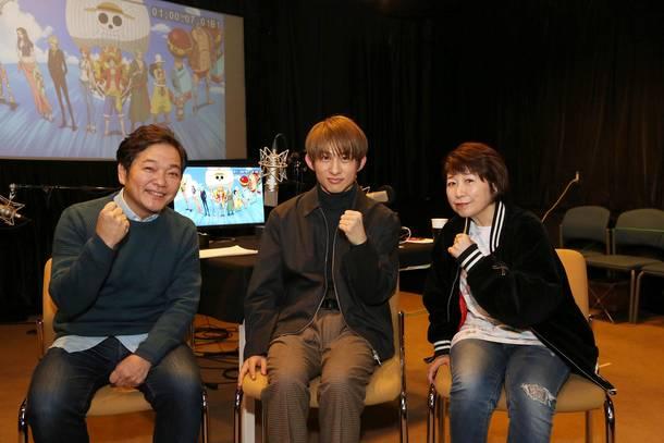 写真左から 山口勝平、三宅健、田中真弓