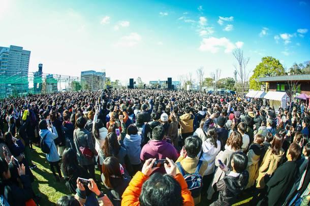 1月13日@大阪・天王寺公園 photo by 渡邉 一生