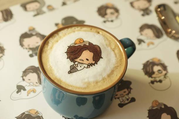 Jin×gudetama キャラクターカフェ(じんくんのぐでぐでラテ)