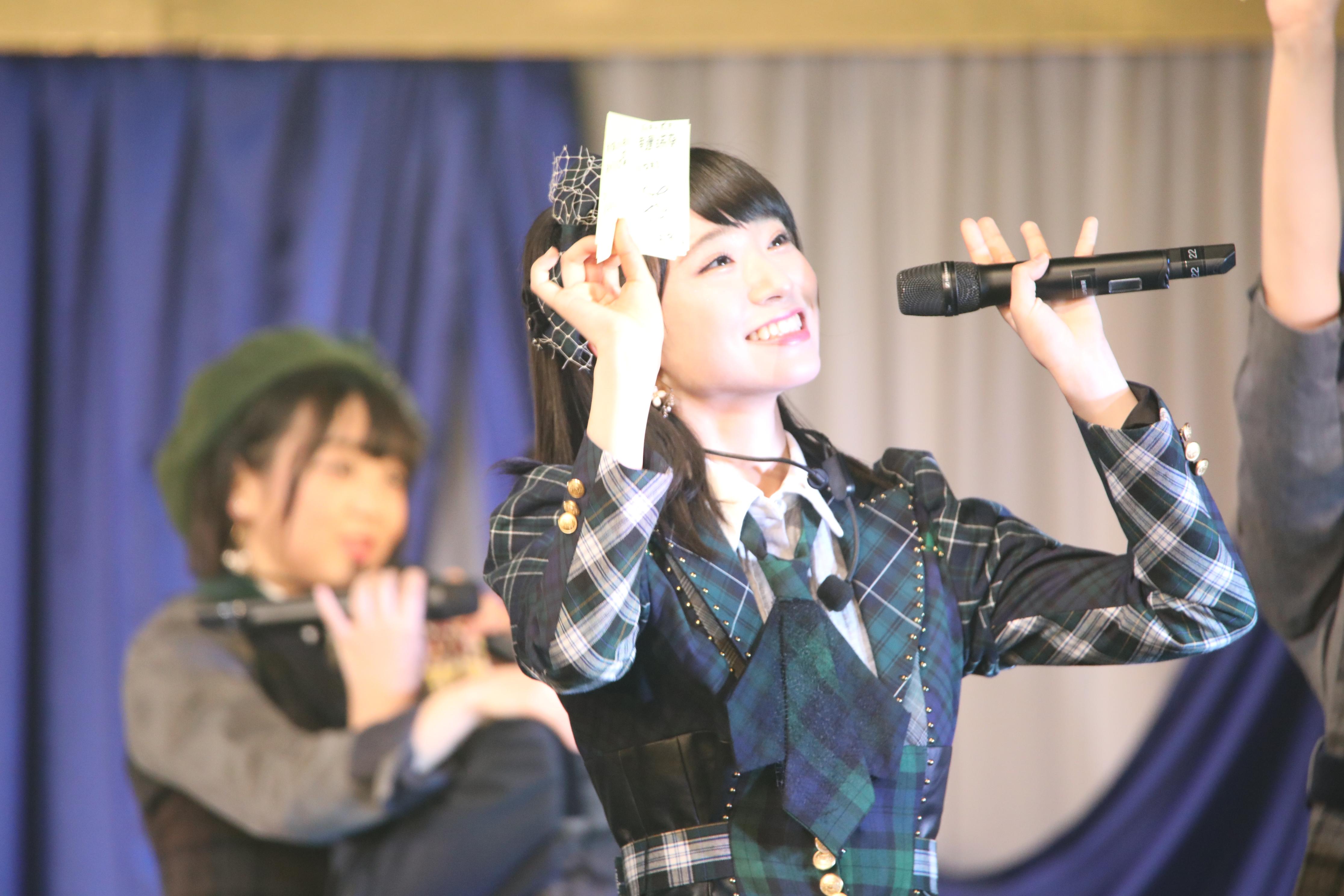 チーム4単独コンサートでの山内瑞葵