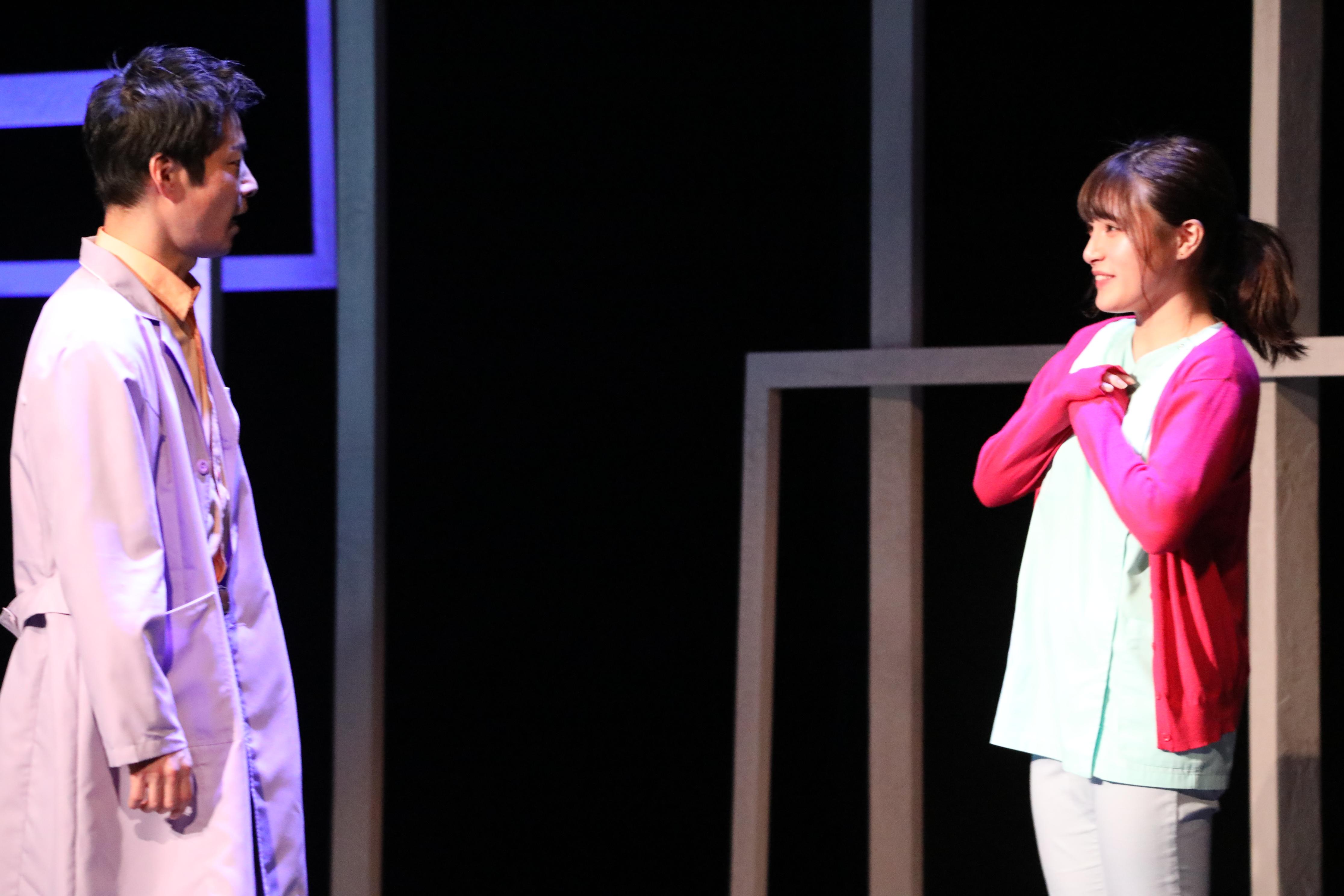 舞台『見渡す限りの卑怯者』で『恵村華』を演じる谷川聖