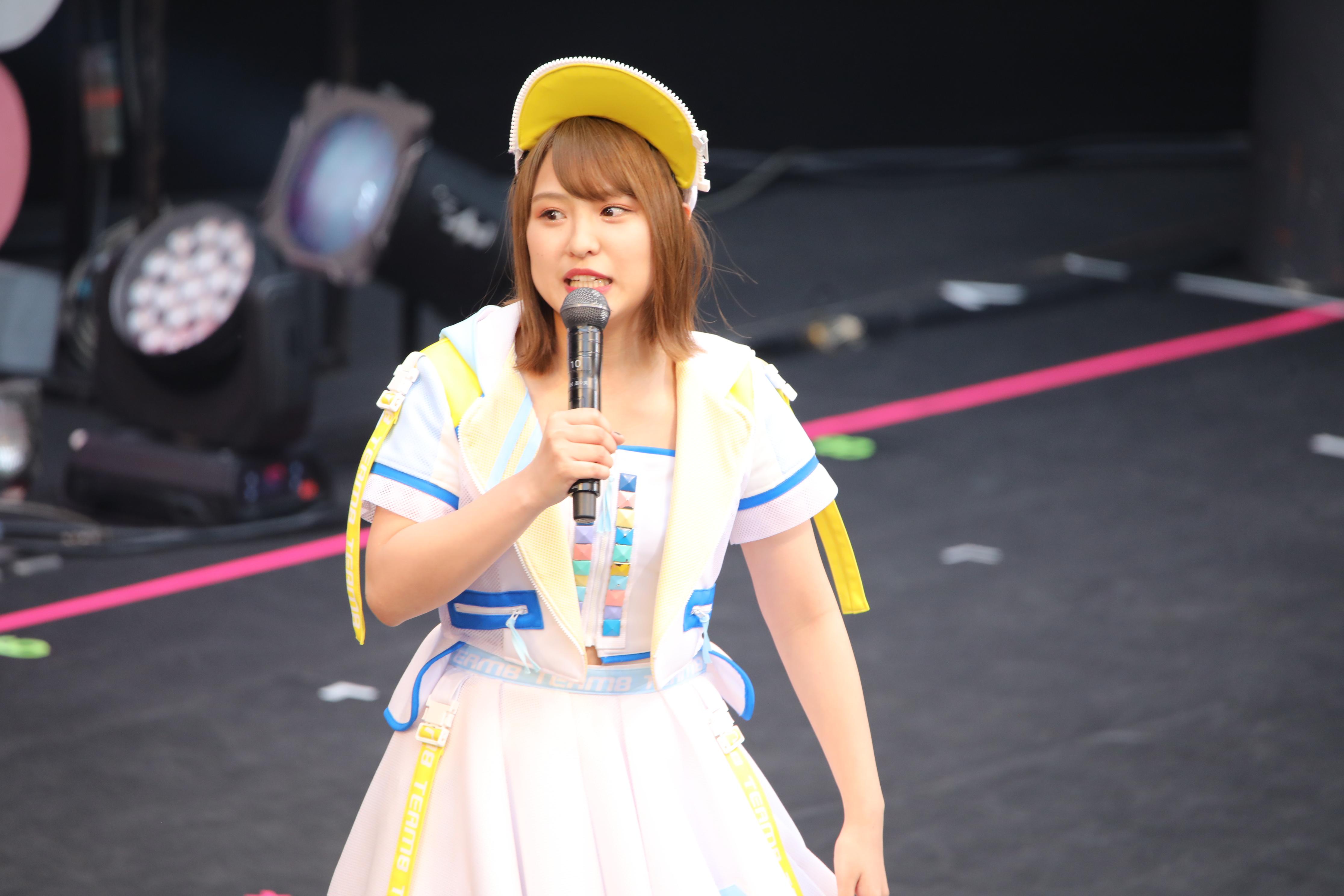 チーム8結成5周年コンサートでの山田菜々美