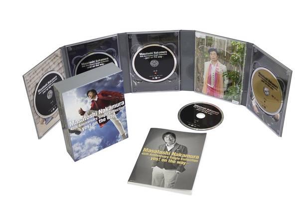 シングルベスト『Masatoshi Nakamura 45th Anniversary Single Collection ~yes!on the way~』【初回限定盤】(4CD+DVD)展開写真