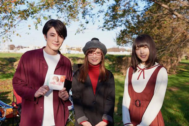 L→R 間宮祥太朗、奥華子、桜井日奈子