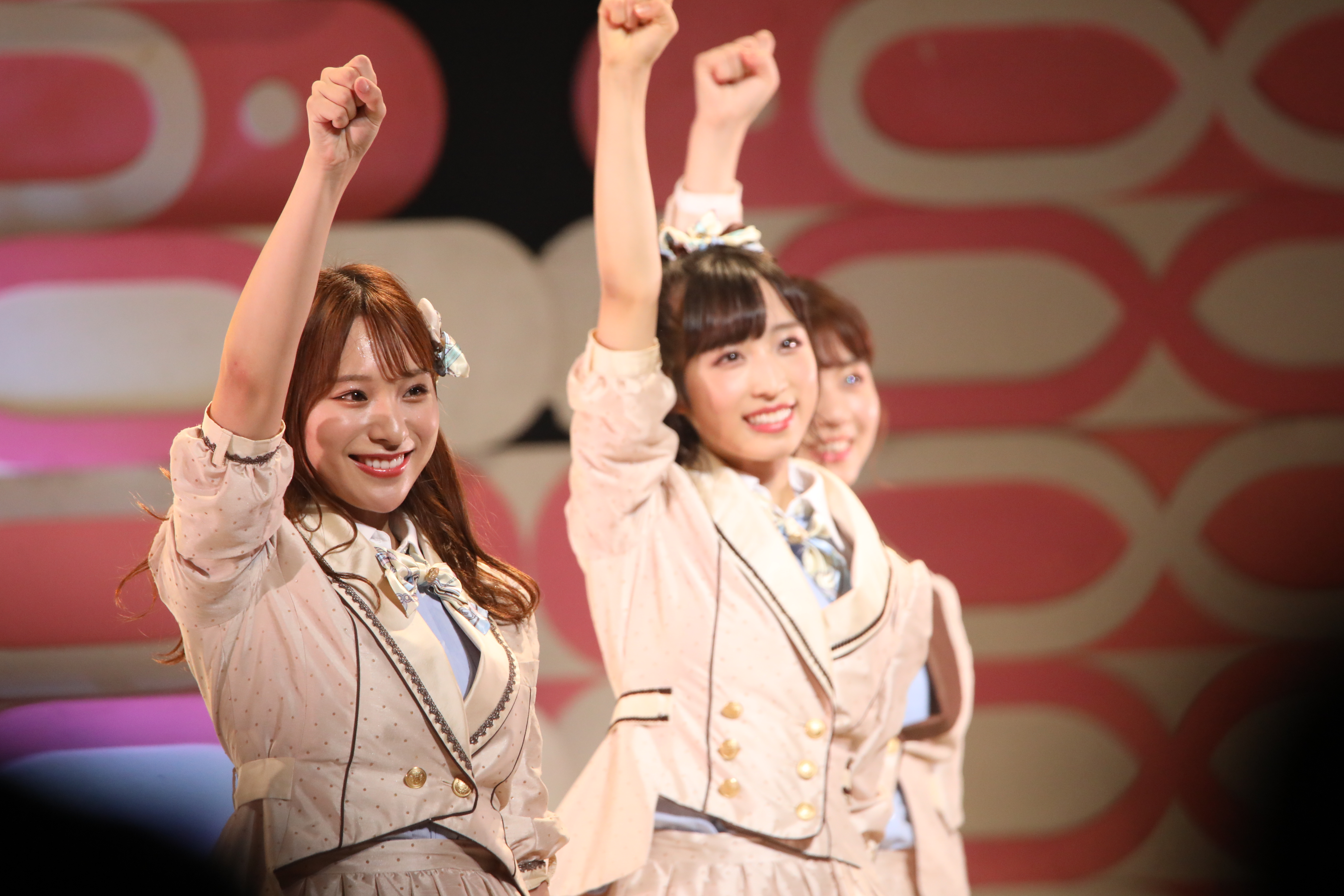 関東メンバーのステージ終了シーン