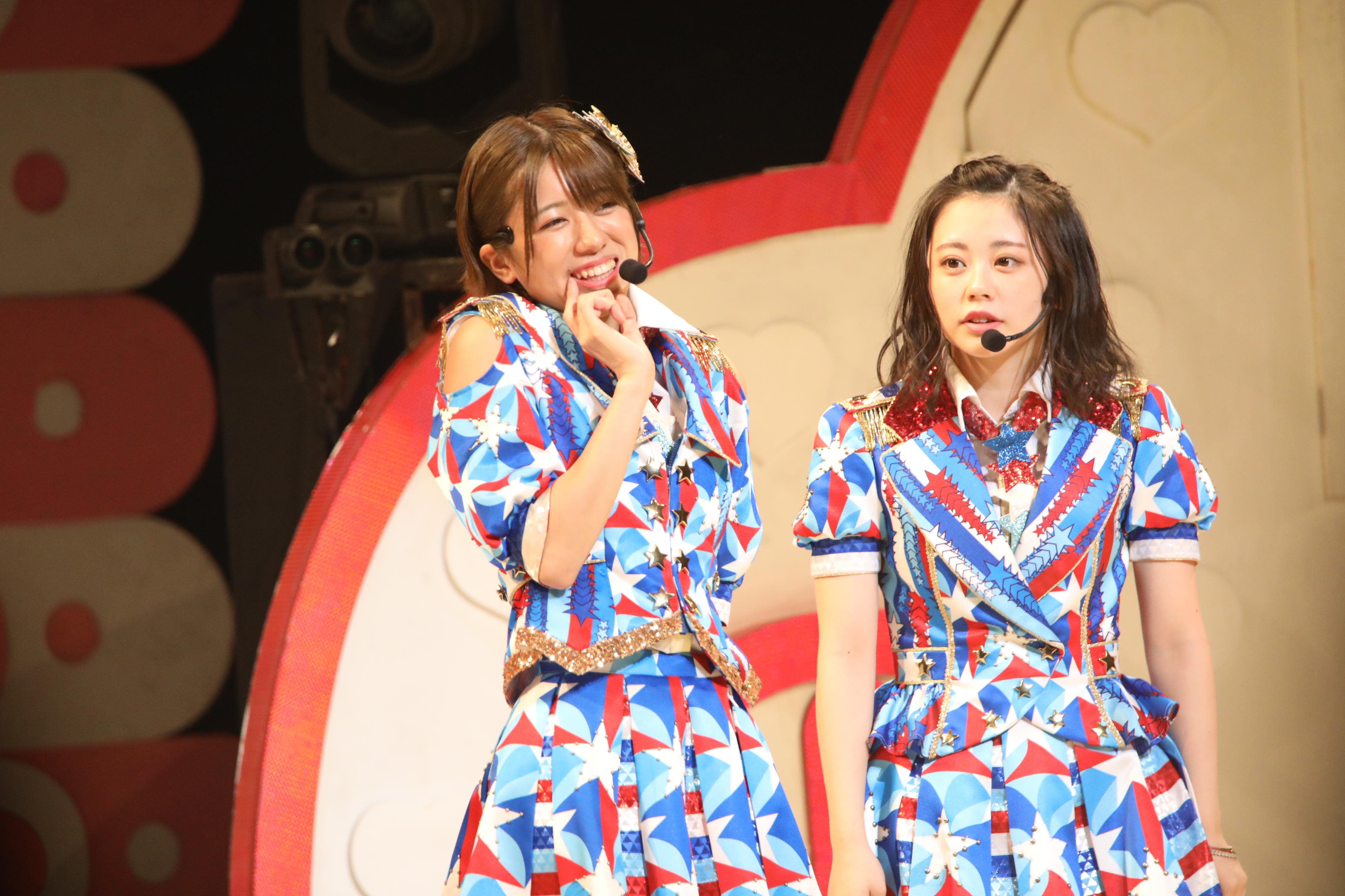 大西桃香と濵咲友菜「大西とチューしたい人、この指とまれ!」