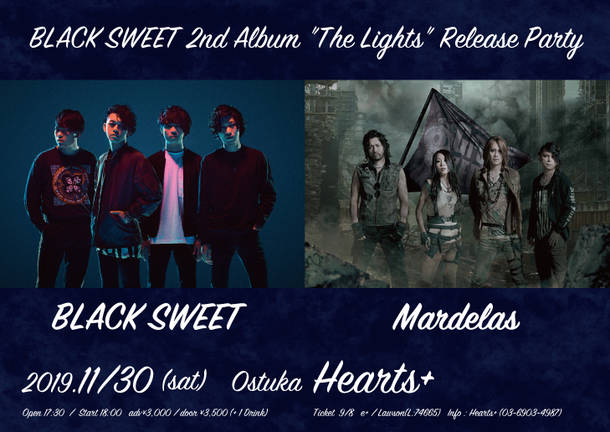 "『BLACK SWEET 2nd Album ""The Lights"" release party』"