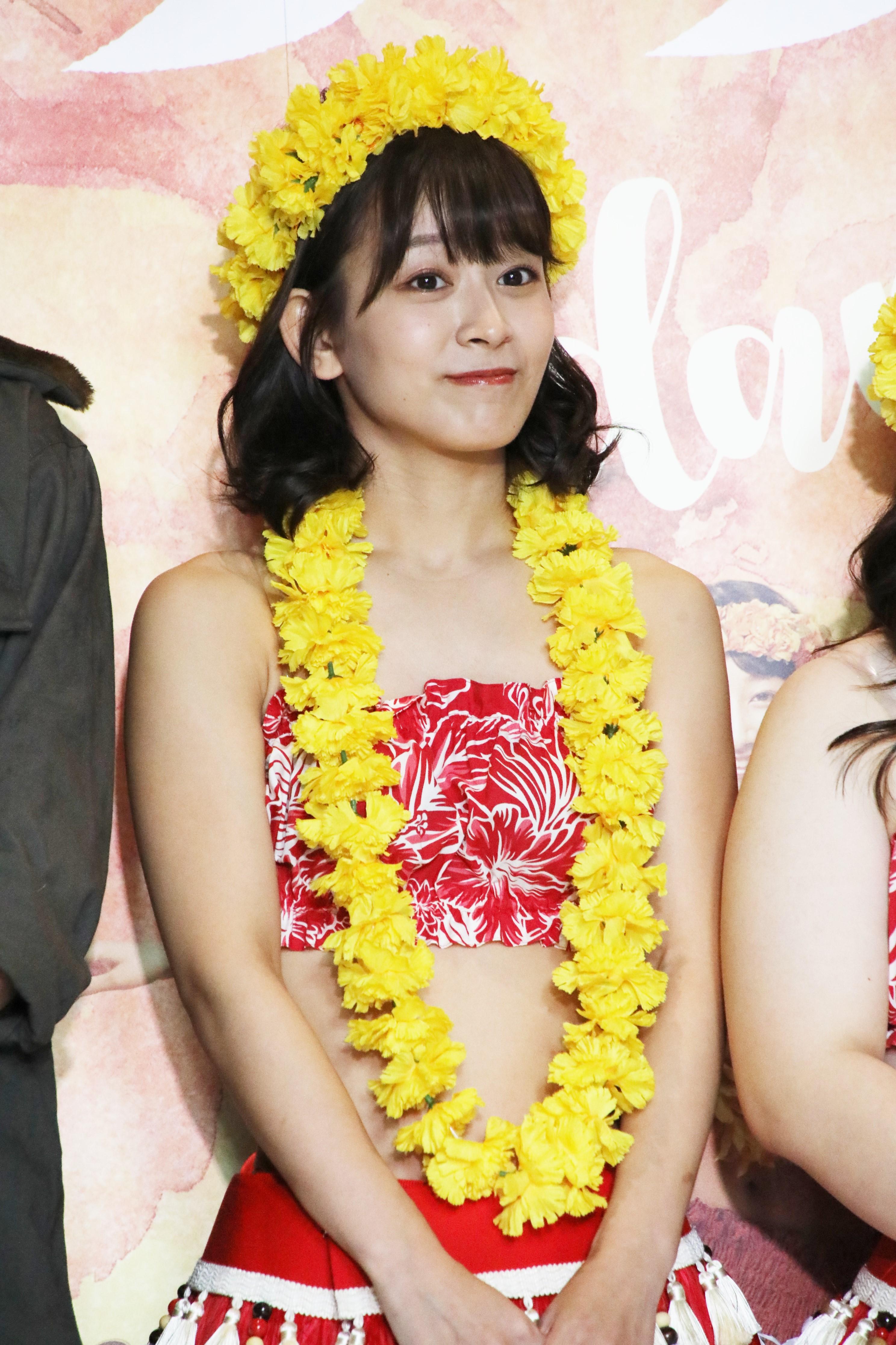 舞台「フラガール」でのゲネプロ前囲み取材での太田奈緒
