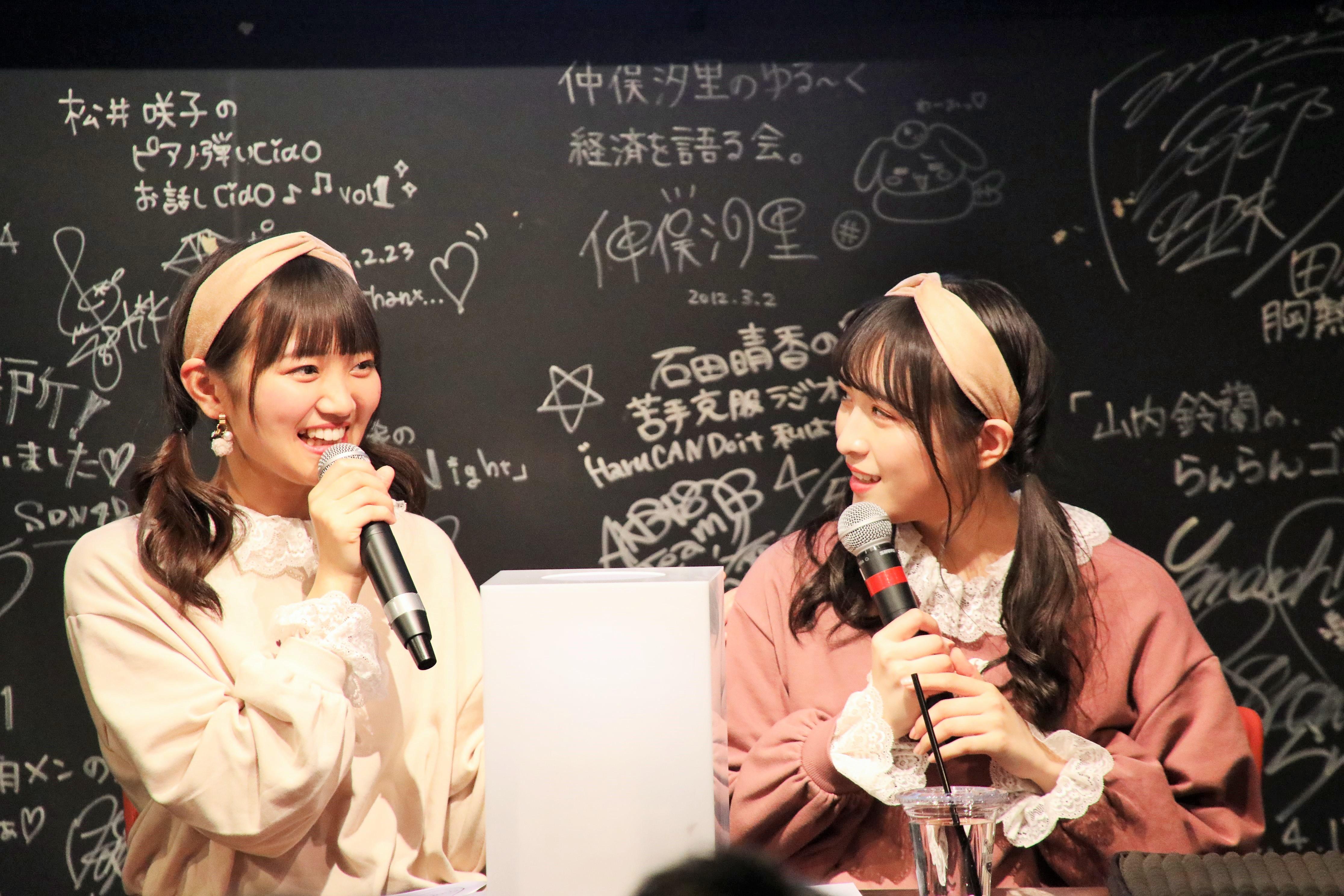 ファンからの質問に回答する稲垣と川本