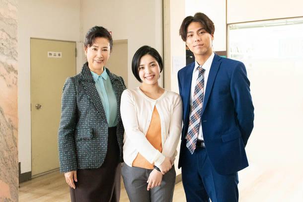 写真左より、名取裕子、城 南海、大東駿介 (C)テレビ東京