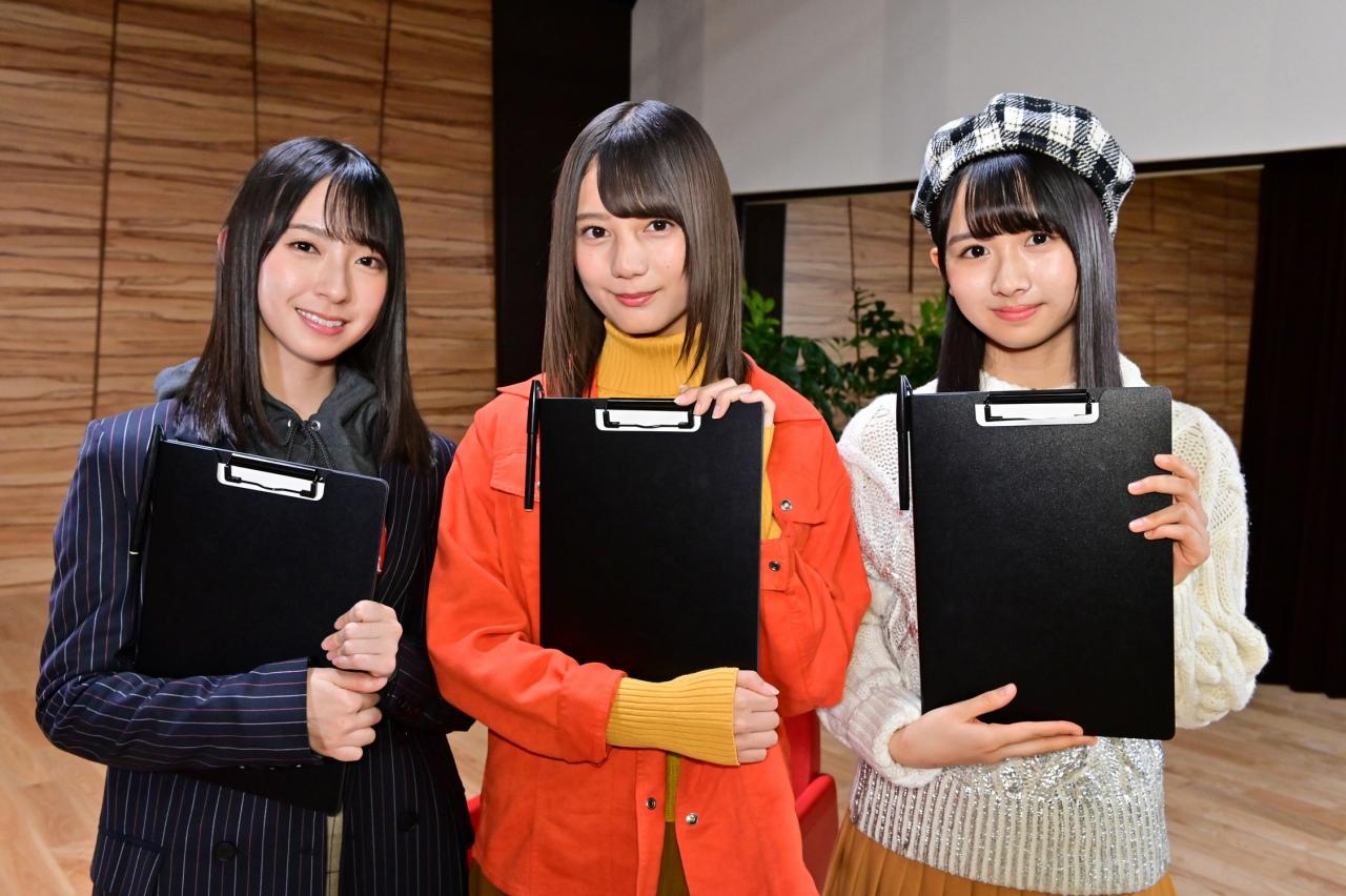 (左から)金村美玖、小坂菜緒、上村ひなの