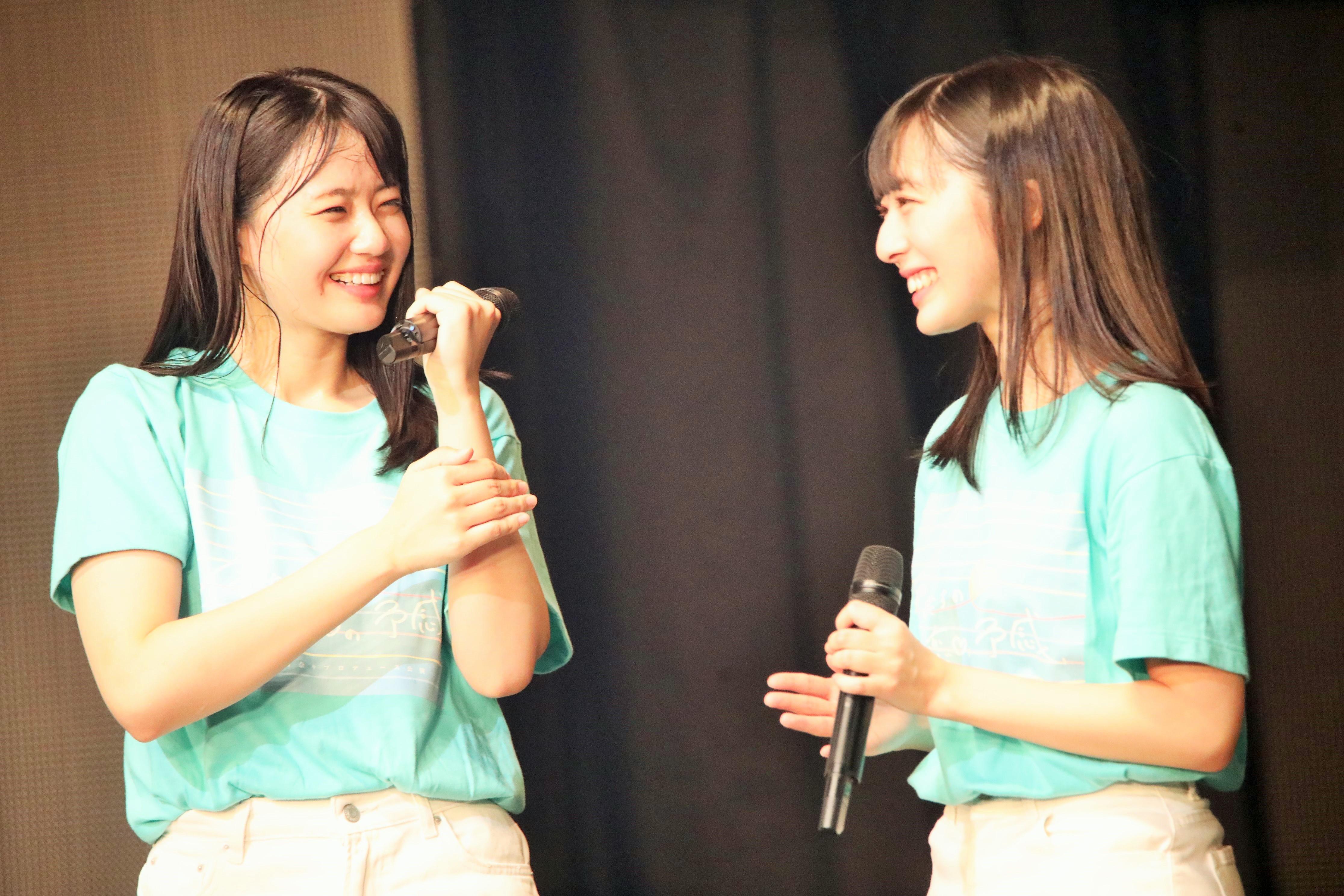 STU48今村美月(右)と瀧野由美子