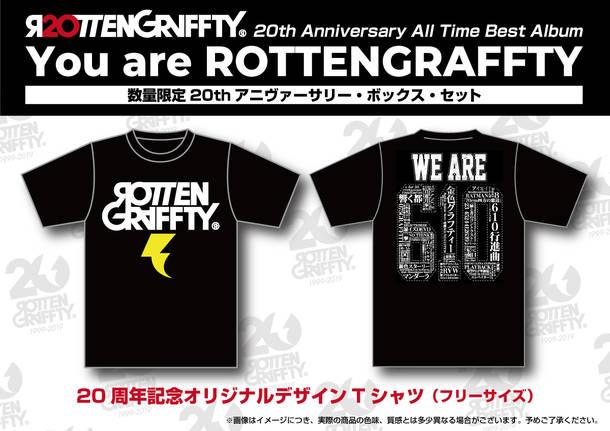 アルバム『You are ROTTENGRAFFTY』【数量限定20thアニヴァーサリー・ボックス・セット】(2CD+BONUS DISC+GOODS)特典Tシャツ