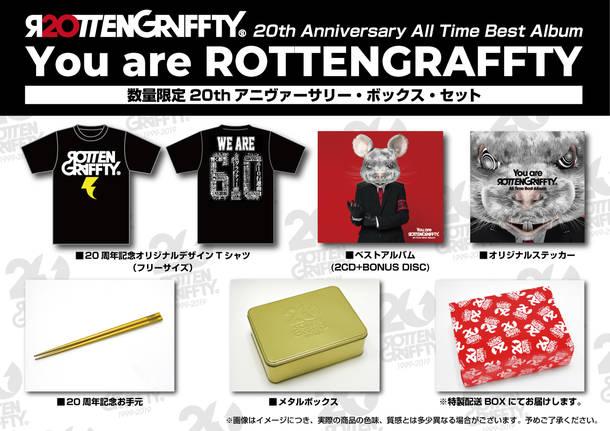 アルバム『You are ROTTENGRAFFTY』【数量限定20thアニヴァーサリー・ボックス・セット】(2CD+BONUS DISC+GOODS)特典