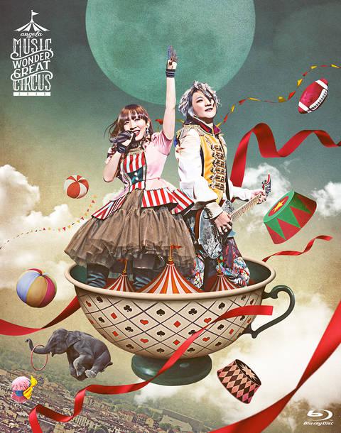 Blu-ray『angelaのミュージック・ワンダー★大サーカス 2019 LIVE Blu-ray』DISCケースジャケット