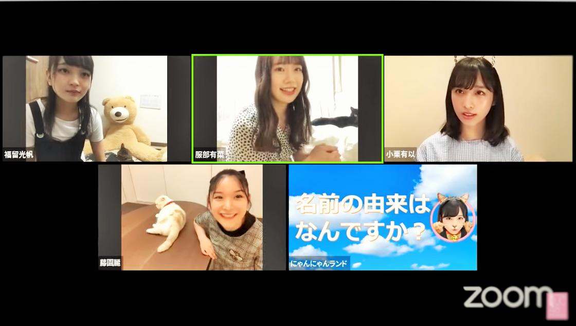 上段左から福留光帆、服部有菜、小栗有以、下段:藤園麗 (C) AKB48