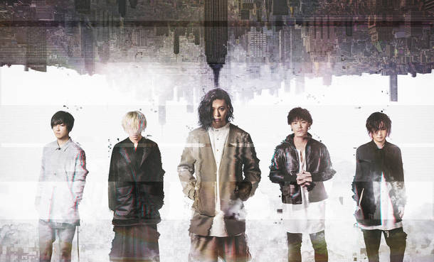 L→R 孝哉(Gu)、瀬希(Ba)、KAZ(Vo)、SHINYA(Dr)、克哉(Gu)