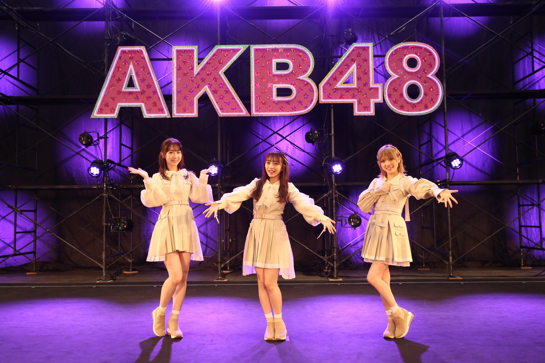 柏木由紀、向井地美音、岡田奈々 10月18日ライブ (C) AKB48