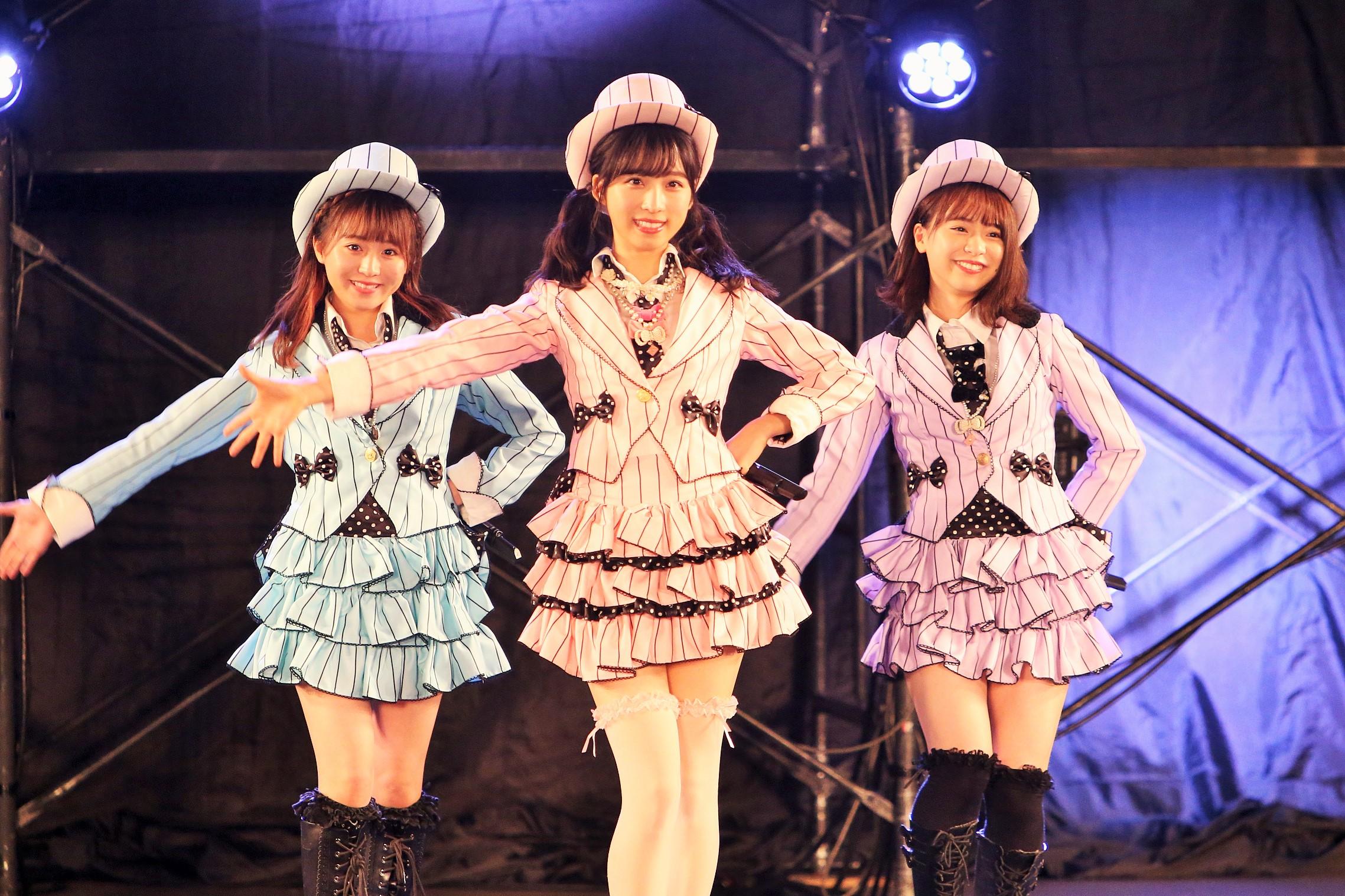 坂口渚沙、小栗有以、倉野尾成美 10月18日ライブ (C) AKB48