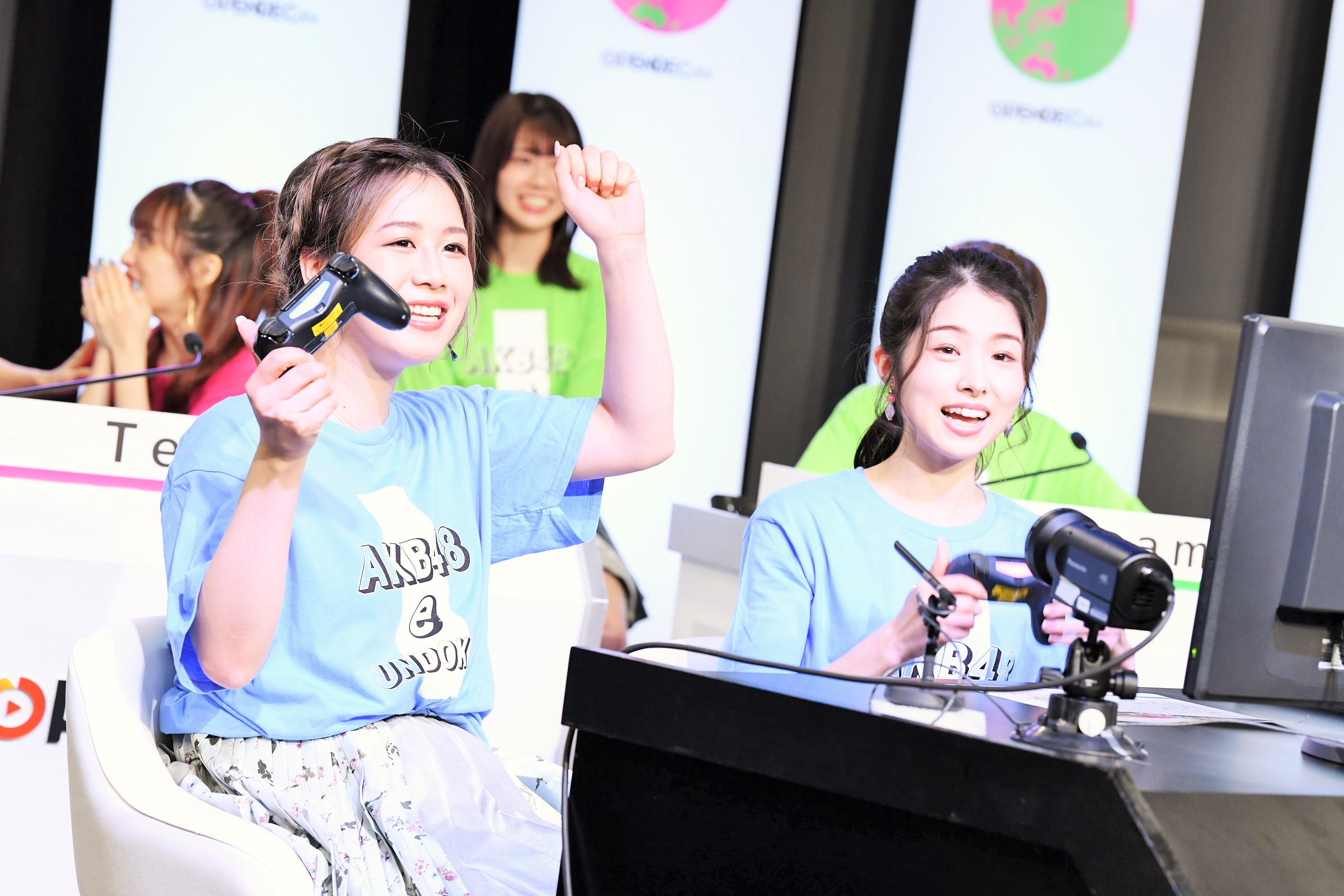 チームB⼤家志津⾹、岩⽴沙穂 (C) AKB48